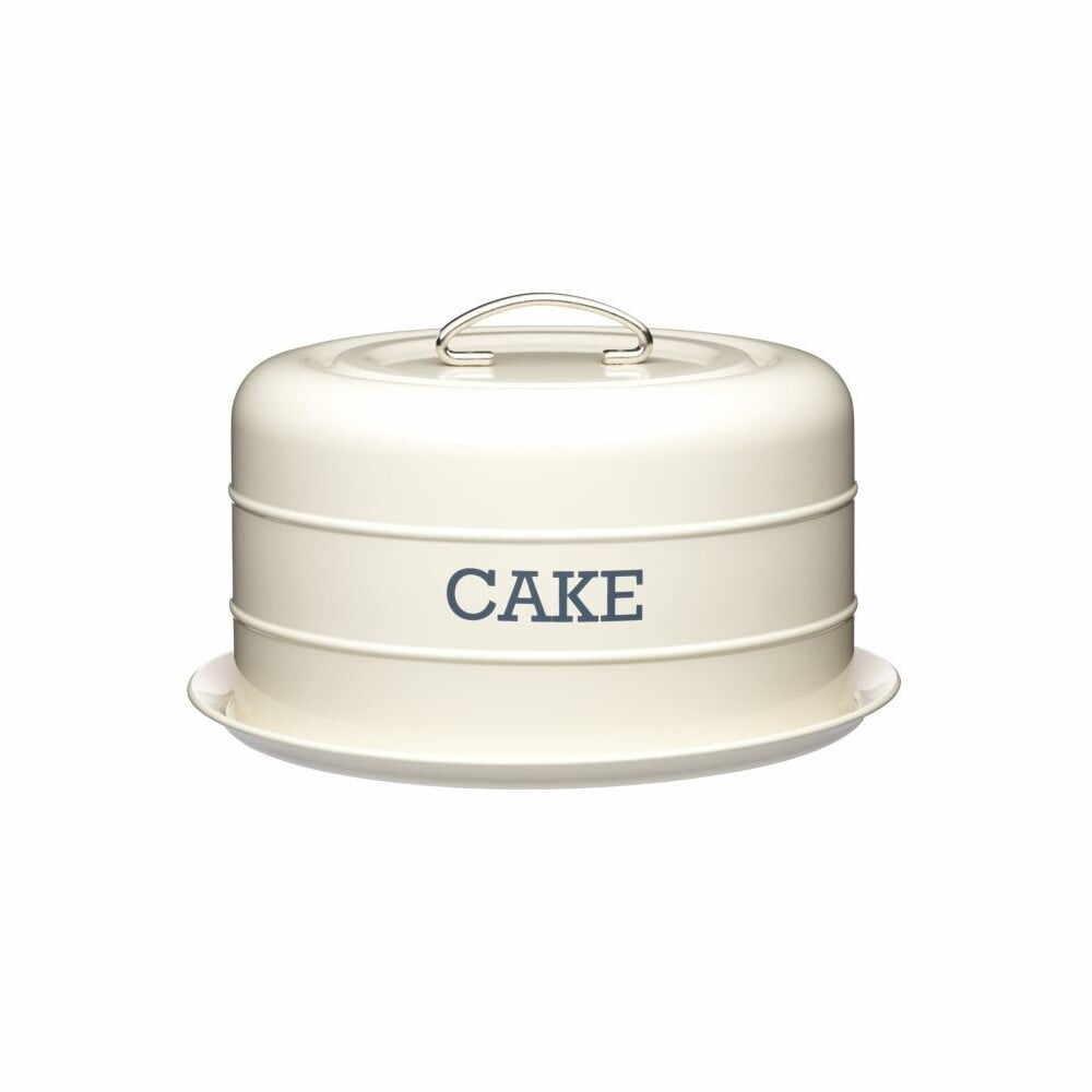 Cutie metalică pentru prăjituri Kitchen Craft Nostalgia, ⌀ 28,5 cm, crem la pret 171 lei