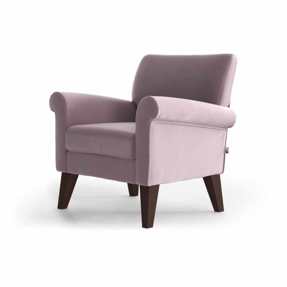 Fotoliu din catifea My Pop Design Iena, roz deschis la pret 1425 lei