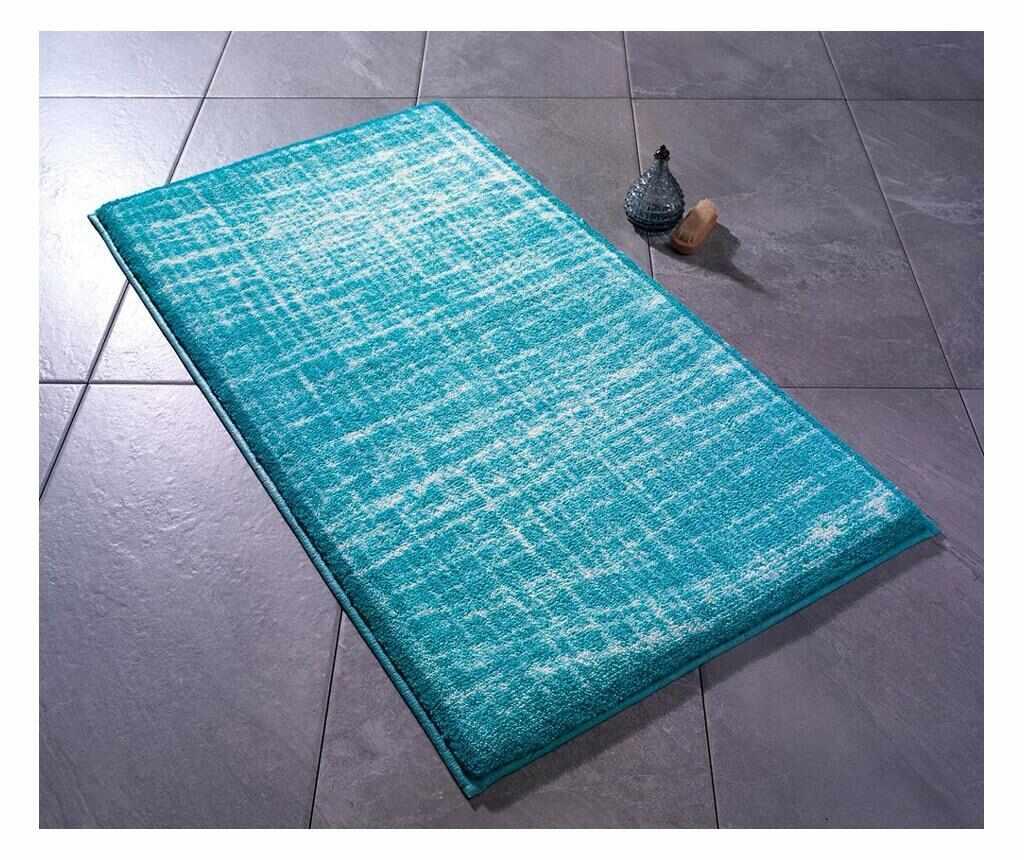 Covoras de baie 80x140 cm - Confetti, Albastru,Multicolor la pret 289.99 lei