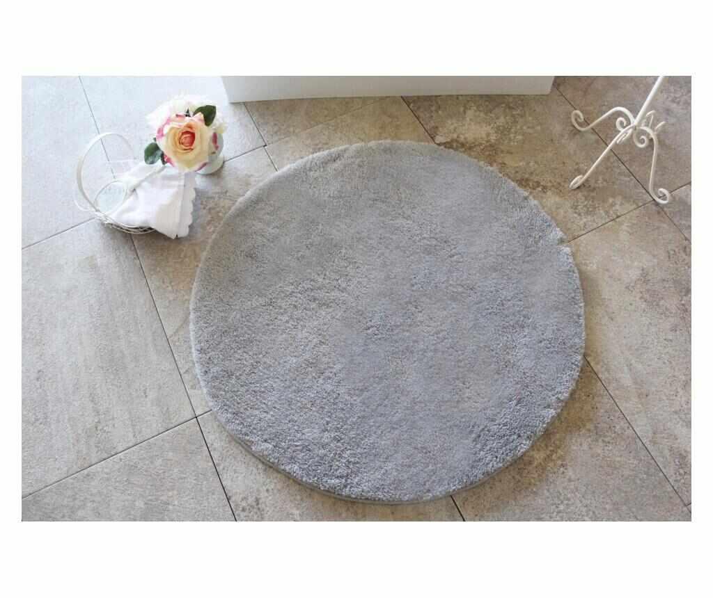 Covoras de baie Colors of Grey 90 cm - Chilai Home, Gri & Argintiu la pret 189.99 lei