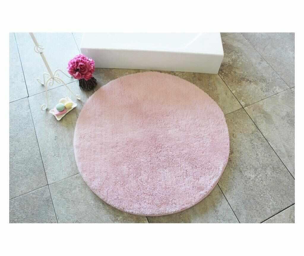 Covoras de baie Colors of Light Pink 90 cm - Chilai Home, Roz la pret 189.99 lei