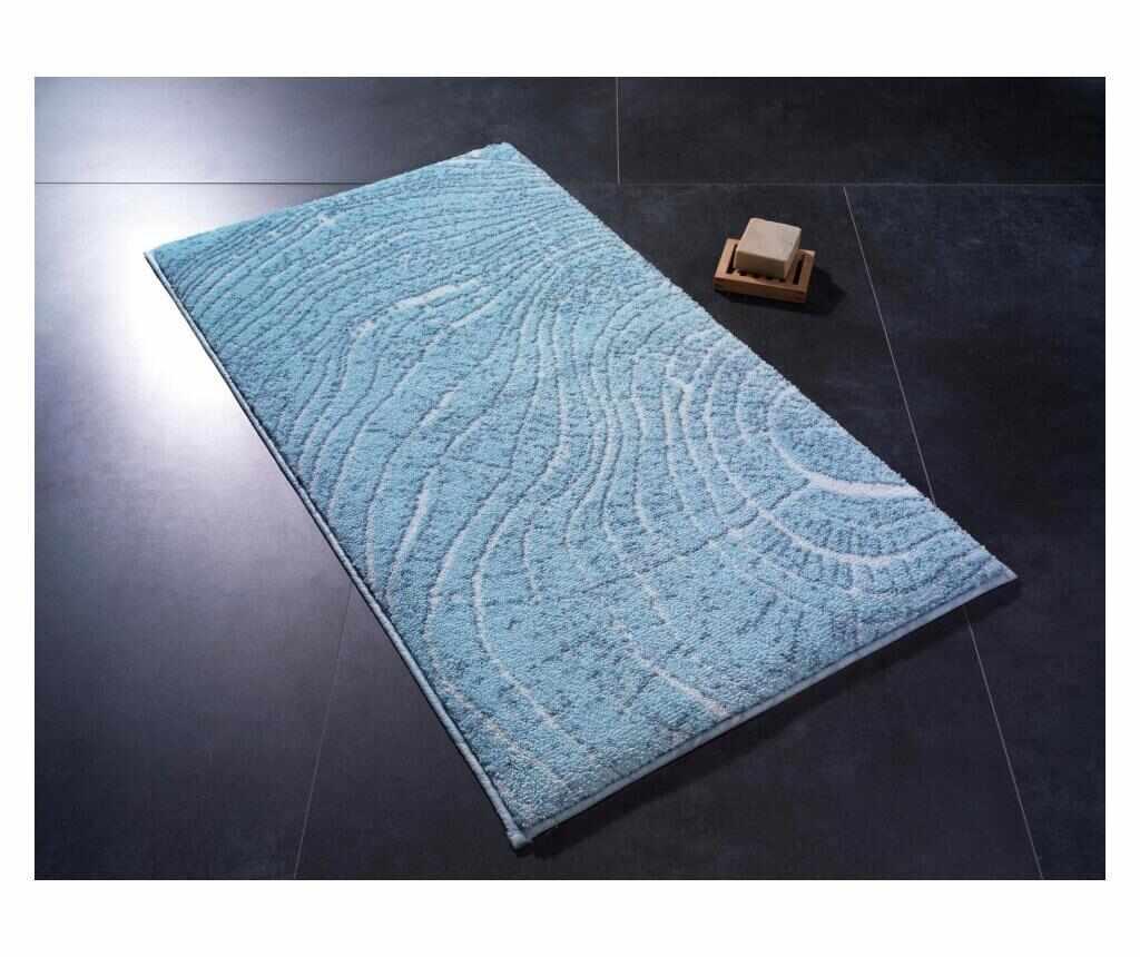 Covoras de baie Lumber TurquoiseWhite 80x140 cm - Confetti, Multicolor la pret 289.99 lei