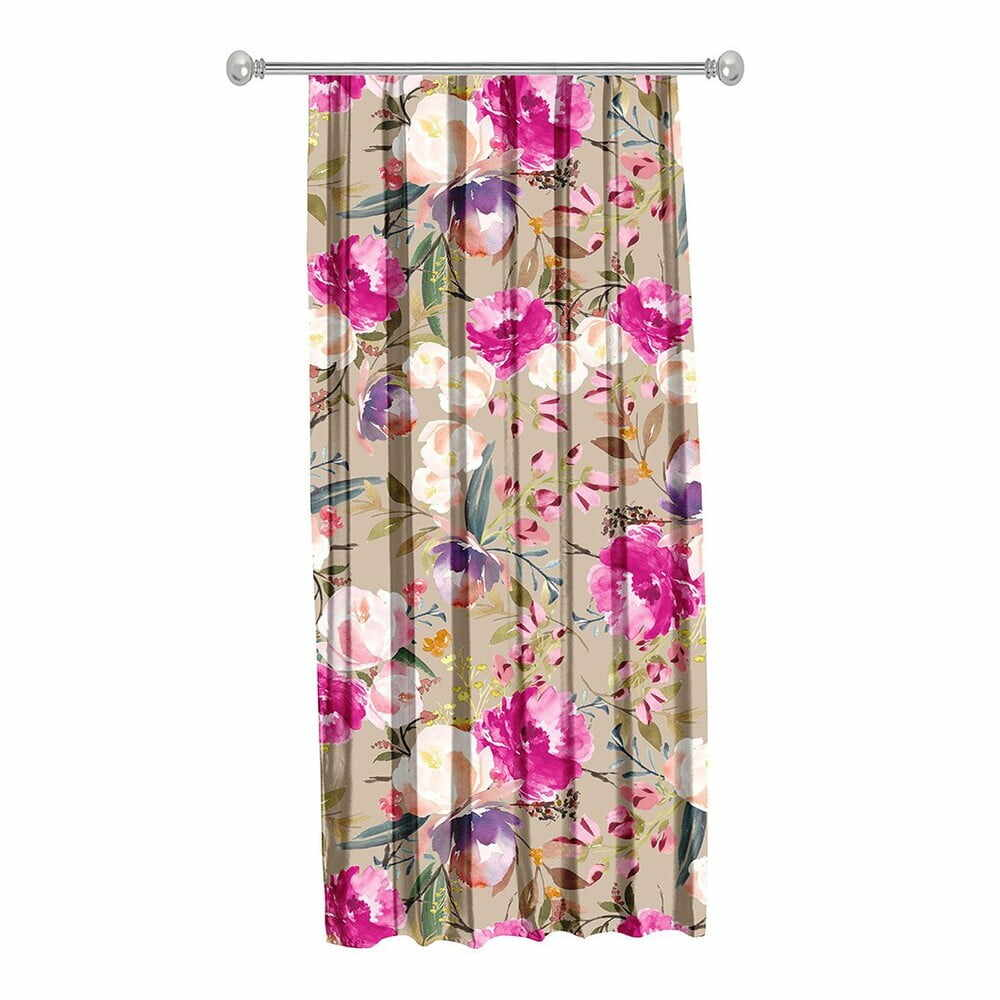 Draperie Mike & Co. NEW YORK Butterflies Blossom, 140 x 270 cm, bej-roz la pret 185 lei