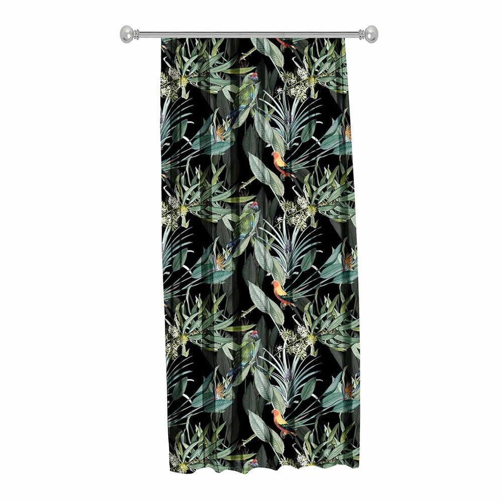 Draperie Mike & Co. NEW YORK Jungle Birds, 140 x 270 cm, negru la pret 185 lei