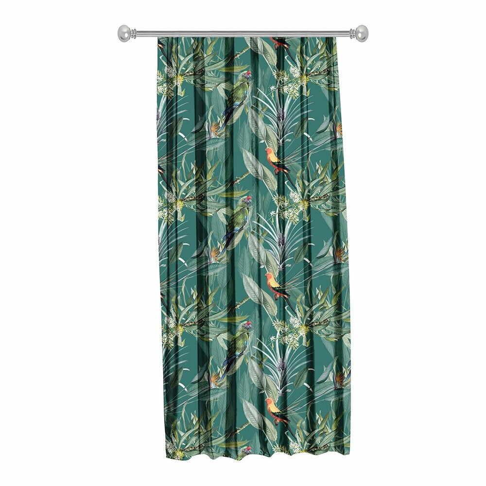 Draperie Mike & Co. NEW YORK Jungle Birds, 140 x 270 cm, verde la pret 185 lei
