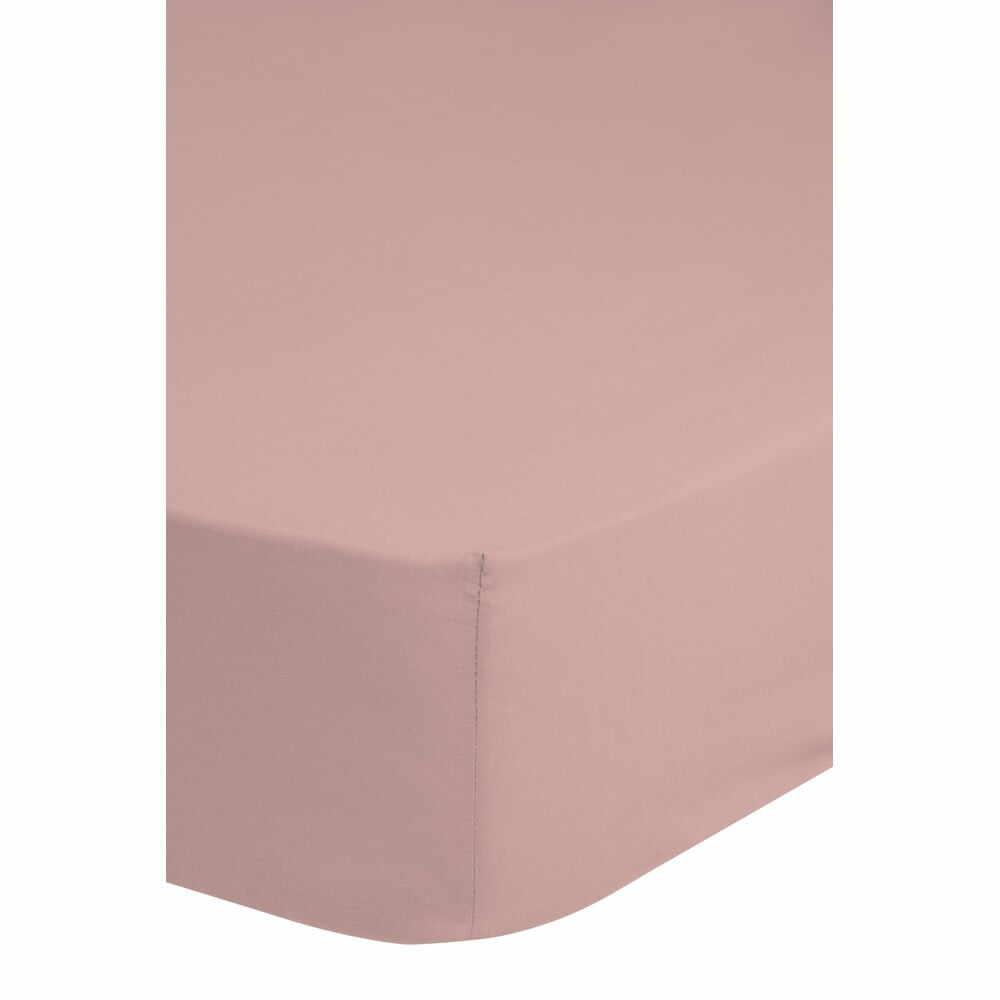 Cearșaf elastic din bumbac satinat HIP,160x200cm, roz la pret 171 lei