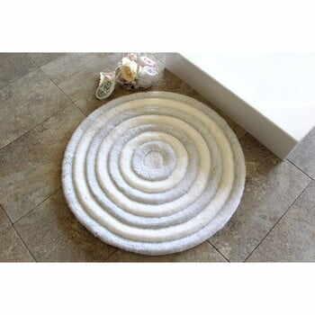 Covoraș de baie Confetti Bathmats Ecru, Ø 90 cm, alb la pret 249 lei
