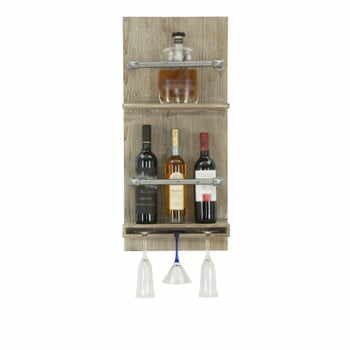 Suport de perete pentru sticle și pahare Mauro Ferretti Pipe Bar, 76 x 34 cm la pret 424 lei