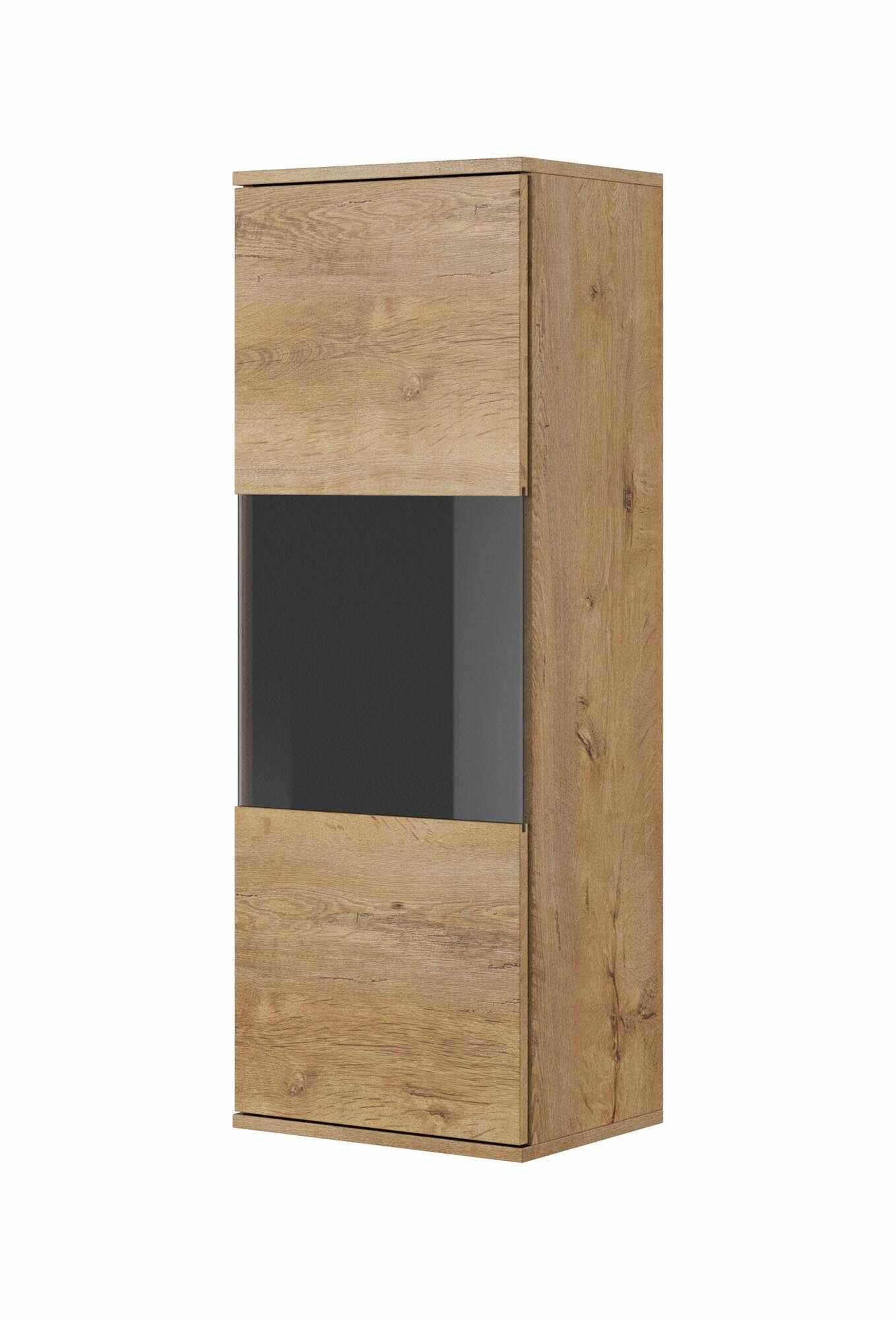 Vitrina suspendata din pal cu 1 usa Nest W-1 Stejar, l40xA30xH110 cm la pret 330 lei