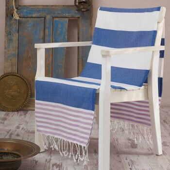 Prosop hammam Antalya Blue, 100x180 cm la pret 55 lei