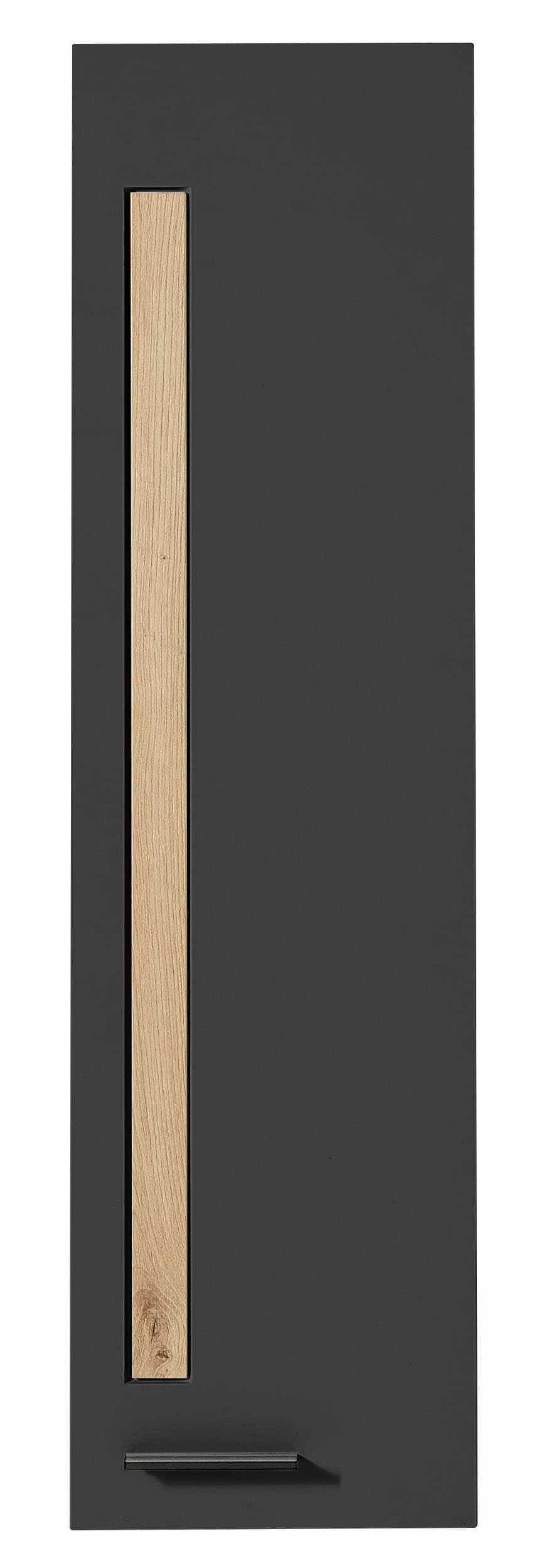 Cabinet suspendat din MDF cu 1 usa Loftis Grafit / Stejar, l36xA37xH128 cm la pret 828 lei