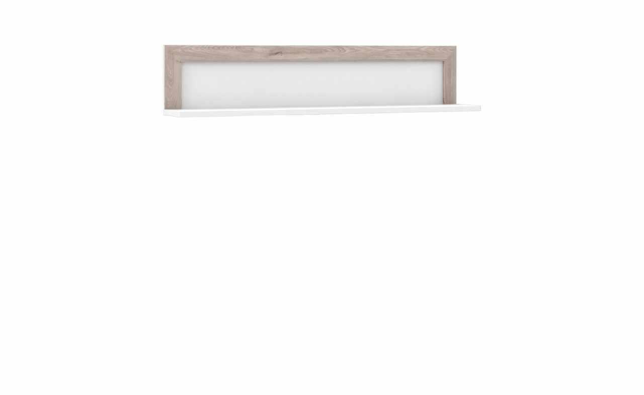 Etajera suspendata din pal Small Conveq Stejar / Alb, l132,9xA22xH27,7 cm la pret 327 lei
