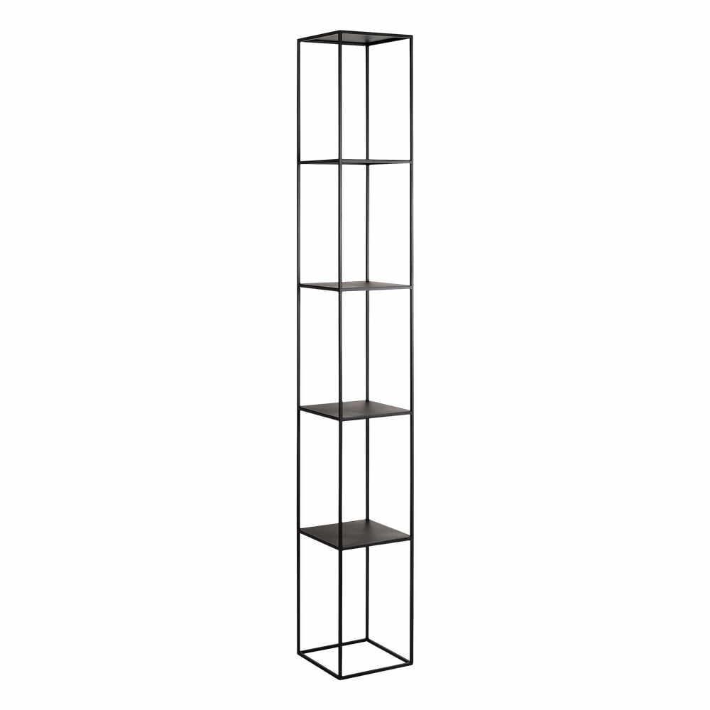 Bibliotecă metalică Custom Form Tensio, înălțime 230 cm, negru la pret 2302 lei