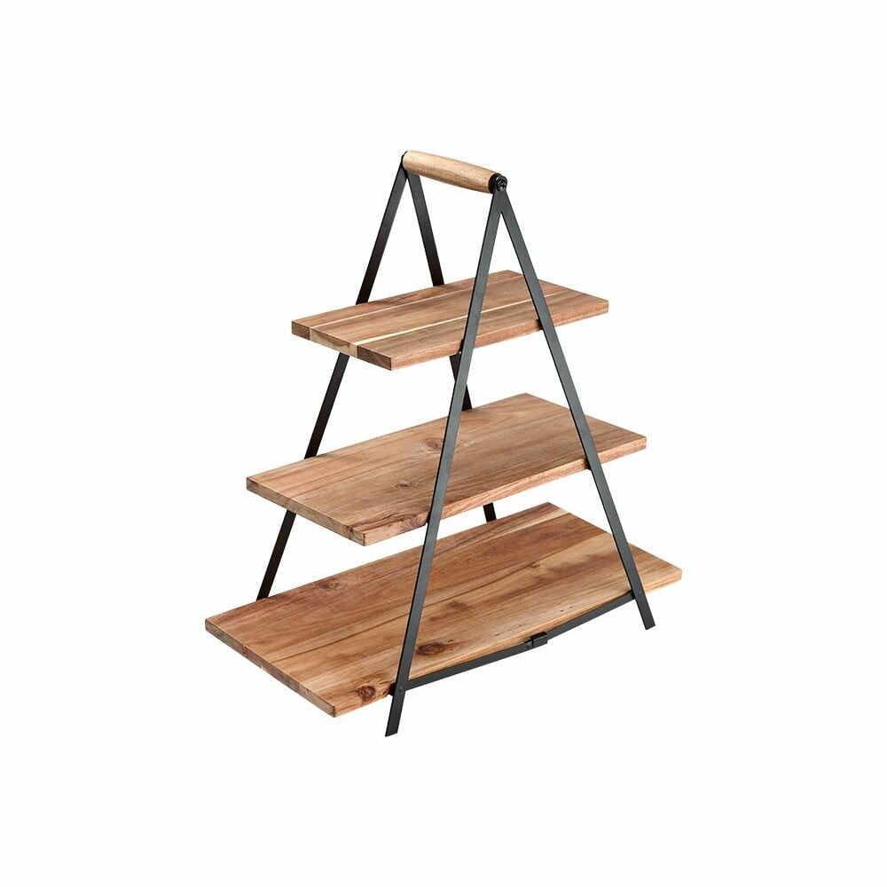 Suport etajat din lemn de salcâm pentru gustări Ladelle Serve & Share la pret 464 lei