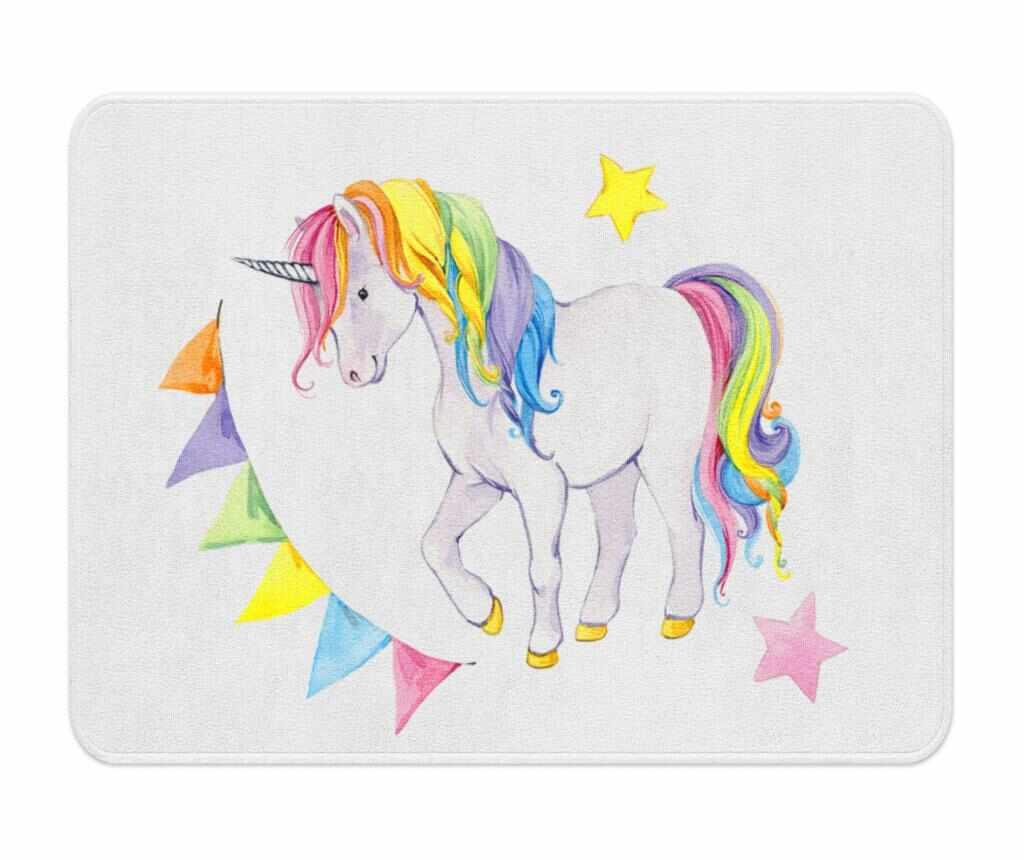 Covor Unicorns 100x140 cm - Oyo Kids, Multicolor la pret 229.99 lei