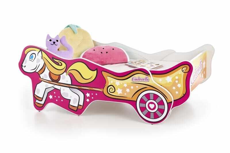 Pat din pal pentru copii Cinderella Multicolor la pret 821 lei