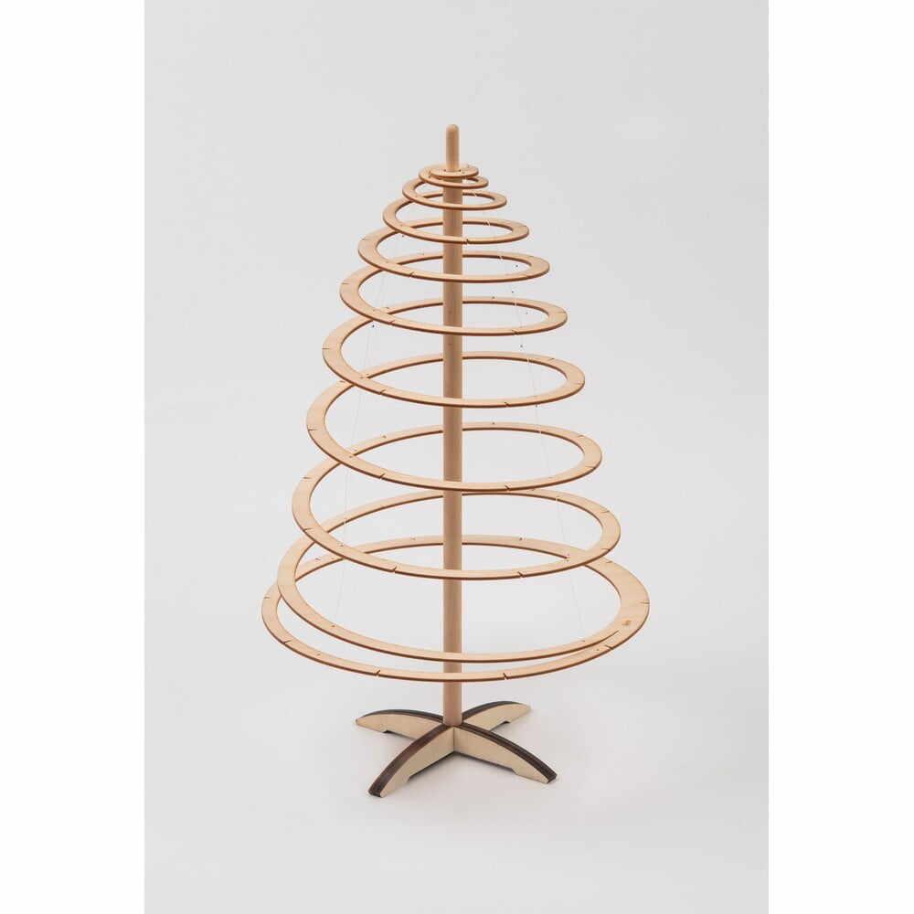 Brad de Crăciun decorativ din lemn Spira Mini, înălțime 42 cm la pret 288 lei