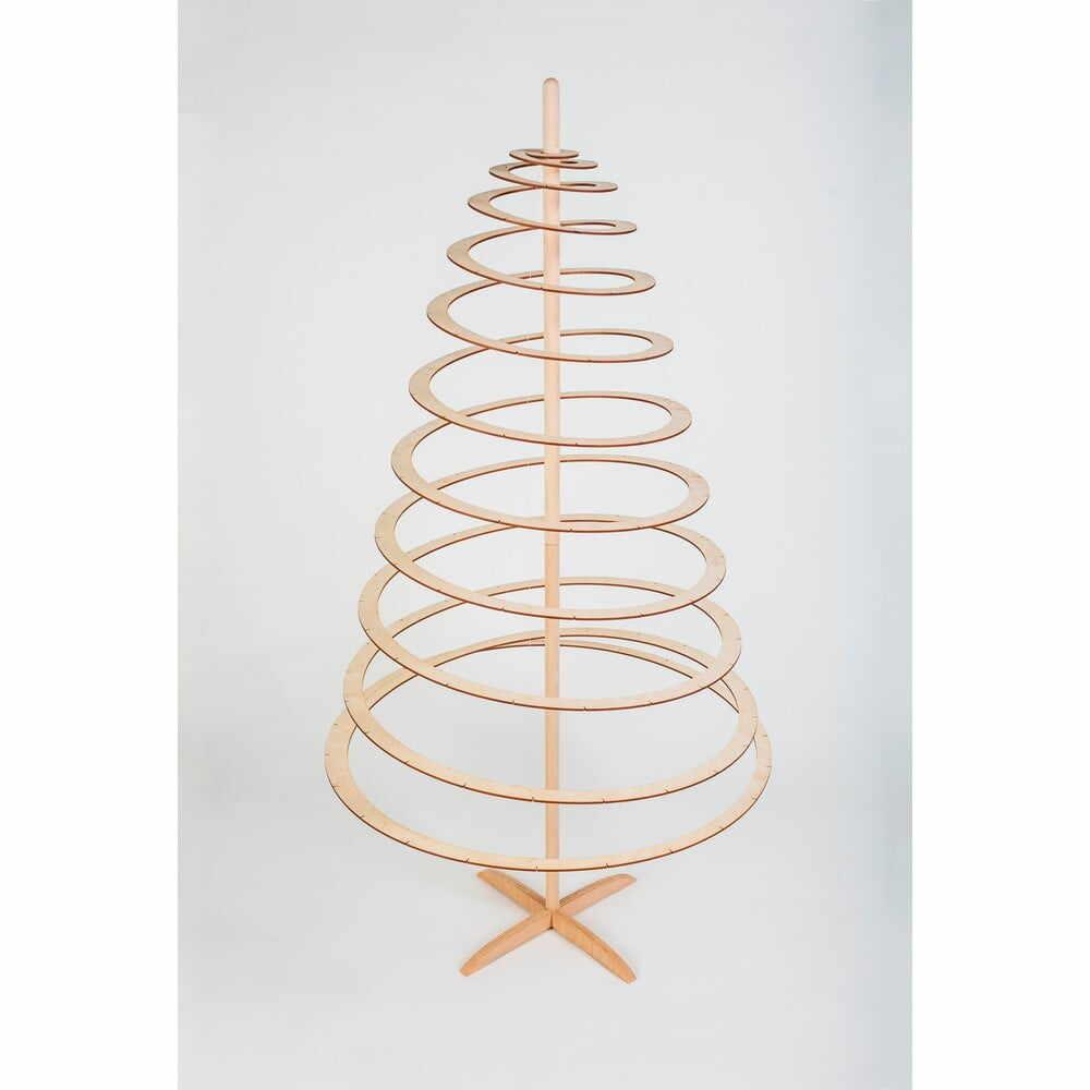 Brad de Crăciun decorativ din lemn Spira Large, înălțime 138 cm la pret 810 lei