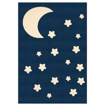 Covor Zala Living Moon, 140 x 200 cm, albastru-alb la pret 326 lei