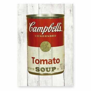 Tablou de perete din lemn de pin Really Nice Things Tomato Soup, 40 x 60 cm la pret 219 lei