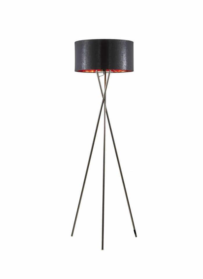 Lampadar Giovanna, negru/crom, 154 x 45 x 22 cm la pret 221.25 lei