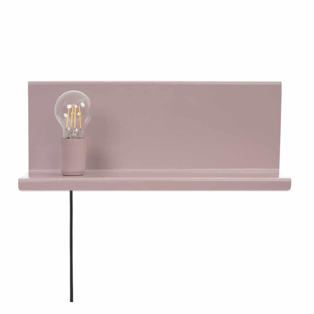 Aplică cu raft Homemania Decor Shelfie2, roz la pret 334 lei