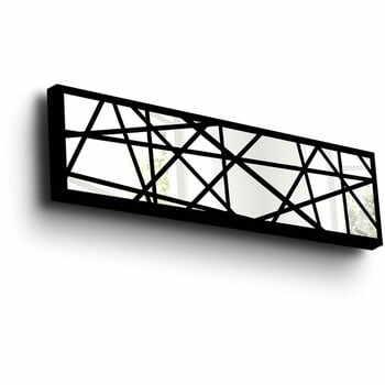 Oglindă decorativă de perete cu ramă din lemn Vera, 108 x 28 cm la pret 405 lei