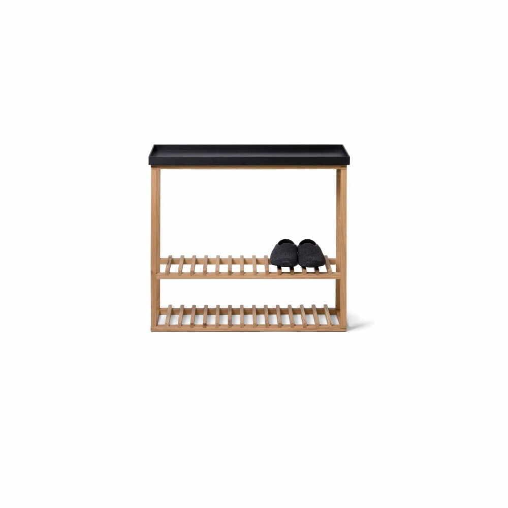 Etajeră încălțăminte/masă auxiliară cu blat negru Wireworks Hello Storage la pret 1793 lei