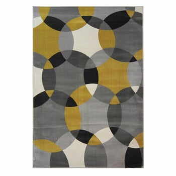 Covor Flair Rugs Cocktail Cosmo Grey Ochre, 80 x 150 cm la pret 174 lei