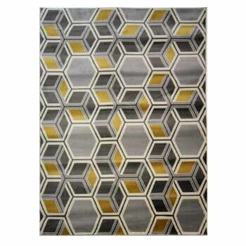 Covor Flair Rugs Cocktail Mimosa Grey Ochre, 160 x 230 cm la pret 519 lei