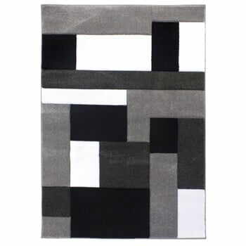 Covor Flair Rugs Cosmos Black Grey, 120 x 170 cm, negru - gri