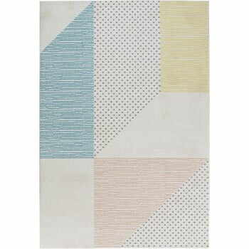 Covor Mint Rugs Madison, 80 x 150 cm, turcoaz - roz
