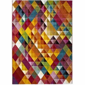 Covor Universal Belis Triangles, 140 x 200 cm, multicolor
