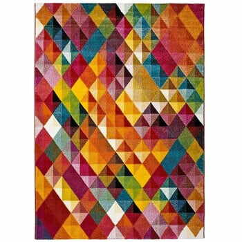 Covor Universal Belis Triangles, 60 x 120 cm, multicolor