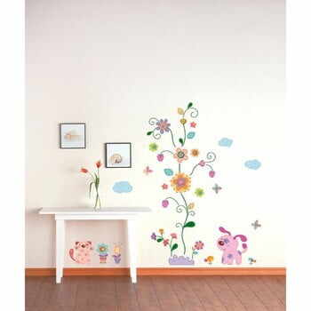 Autocolant Ambiance Colorful Animals and Tree