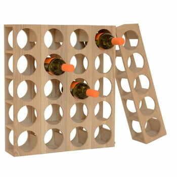 Suport din lemn pentru 5 sticle de vin Wireworks Wine la pret 276 lei
