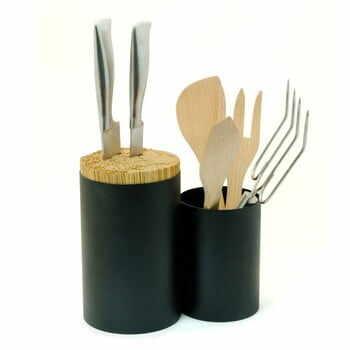 Suport pentru cuțite și ustensile de bucătărie Wireworks Knife&Spoon, negru la pret 365 lei