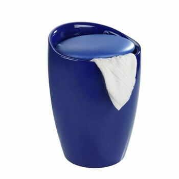 Coș de rufe /taburet Wenko Candy, 20 l, albastru la pret 288 lei