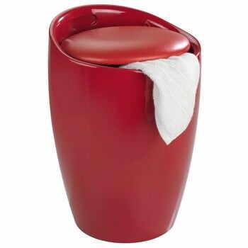 Coș de rufe /taburet Wenko Candy, 20 l, roșu la pret 294 lei