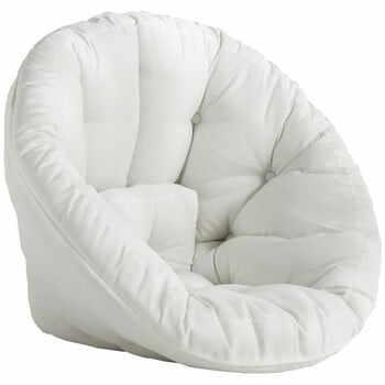 Fotoliu extensibil potrivit pentru exterior Karup Design Design OUT™ Nido White, alb la pret 1571 lei