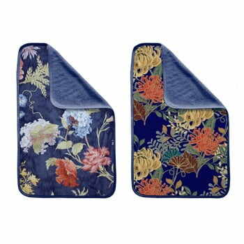 Set 2 prosoape Madre Selva Tierra Blue Flowers