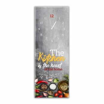 Ceas de perete Styler Glassclock Kitchen Heart, 20 x 60 cm la pret 153 lei