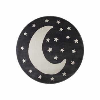 Covor rotund KICOTI Moon, ø 80 cm, negru-alb la pret 167 lei
