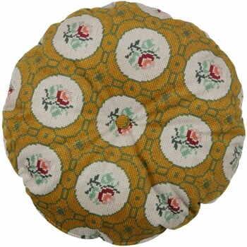 Pernă rotundă decorativă BePureHome Granny, ø 45 cm, galben la pret 172 lei