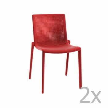 Set 2 scaune de grădină Resol Beekat Simple, roșu la pret 849 lei