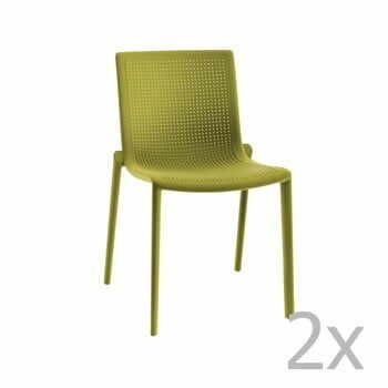 Set 2 scaune de grădină Resol Beekat Simple, verde la pret 759 lei