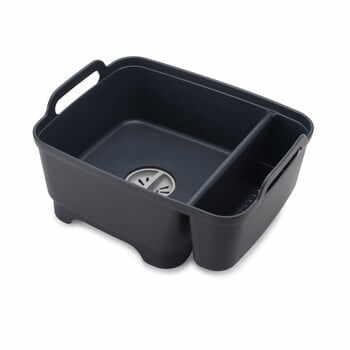 Recipient pentru spălare cu compartiment pentru detergent Joseph Joseph Wash&Drain, negru la pret 280 lei