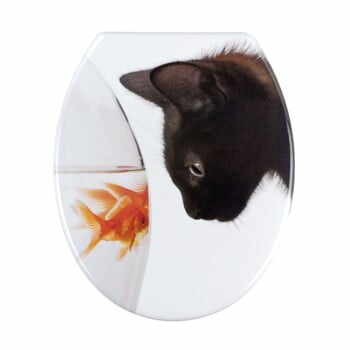 Capac WC Wenko Fish & Cat, 45 x 37,5 cm la pret 131 lei