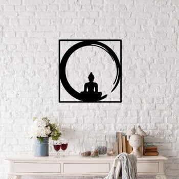Decorațiune metalică de perete Buddha, 50 x 50 cm, negru la pret 178 lei
