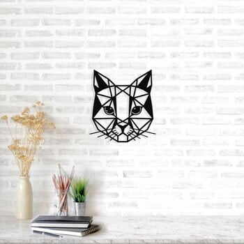 Decorațiune metalică de perete Cat, 45 x 49 cm, negru la pret 216 lei